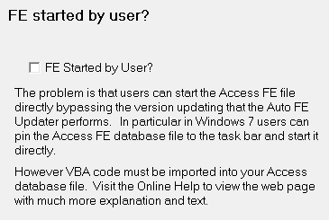 Settings - FE Started by User?