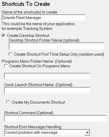 Shortcuts to create