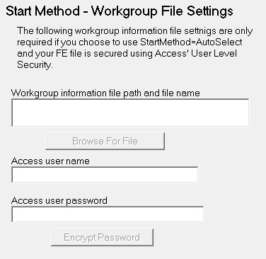 Settings - Workgroup File Settings